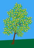 Tree with flowers vector Stock Image