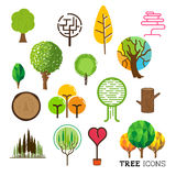 Tree and Forest Icons Royalty Free Stock Image