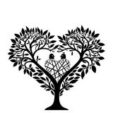 Tree in the form of a heart vector illustration