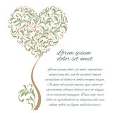 Tree in the form of heart. There is a place for text. Tree in the form of heart isolated on a white background. There is a place for text Royalty Free Stock Photography