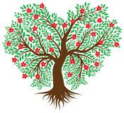 Tree in the form of heart Stock Image