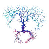 Tree in the form of men and women vector Royalty Free Stock Images