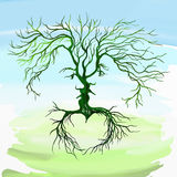 Tree in the form of men and women vector Royalty Free Stock Image