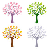 Tree in four season stock illustration