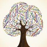 Tree för begrepp för skolakonstutbildning Arkivbild