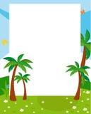 Tree frame. Illustration of beauty tree frame Stock Photo