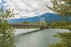 Tree Framed Revelstoke Bridge Stock Photos