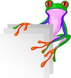 Tree Frog for the corner vector illustration