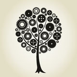 Tree a gear wheel. Tree from a gear wheel. A vector illustration Royalty Free Stock Photography