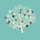 Tree with gears Royalty Free Stock Photo