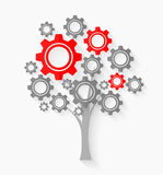 Tree with gears Royalty Free Stock Images