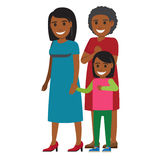 Tree Generations of Women Standing Together Vector Royalty Free Stock Images