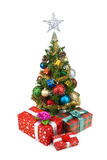 Tree&gift boxes-2 do Natal Imagem de Stock Royalty Free