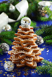 Tree of ginger cookies Royalty Free Stock Photo