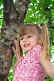 Tree Girl Stock Photo