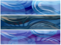 Tree glass and water banners. Water and glassy shapes banners or headers Stock Photos