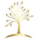 Tree Gold vector  Royalty Free Stock Images