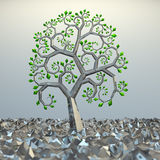 Tree from golden section elements. 3d hi res rendering Royalty Free Stock Image