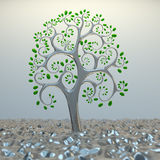 Tree from golden section elements. 3d hi res rendering Royalty Free Stock Photography