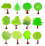 Tree graphics vector Royalty Free Stock Images