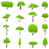 Tree graphics vector. Set of tree graphics vector Stock Images