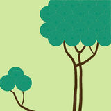Tree with green circles Stock Images