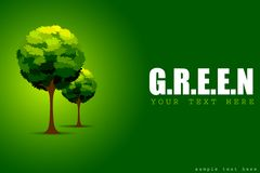 Tree in Green Concept Royalty Free Stock Images