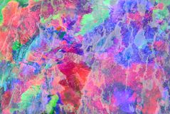 Mixed media artwork, abstract colorful artistic painted layer in pink, blue, green color palette on grunge texture. Photography background royalty free stock photo