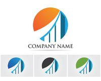 Business finance logo and symbols vector concept illustration. Tree green people identity card vector logo template Royalty Free Stock Images