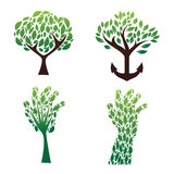 Tree green set vector Stock Photo