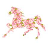 Tree greeting card horse cherry tree Royalty Free Stock Photography