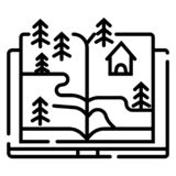 Tree growing from a book royalty free illustration