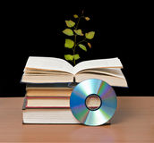 Tree growing from book Royalty Free Stock Photo