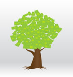 A tree growing money in the form of dollar Royalty Free Stock Photography