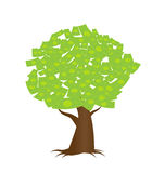 A tree growing money in the form of dollar Royalty Free Stock Images