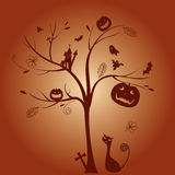 A tree of Halloween Day Stock Photo