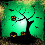 Tree Halloween Represents Trick Or Treat And Autumn Stock Photos