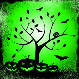 Tree Halloween Represents Trick Or Treat And Environment Royalty Free Stock Image