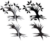 Tree hand. Made by illustrator Stock Photo