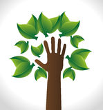 Tree hand design, vector illustration Stock Photo