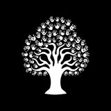 Tree hand illustration for diverse team help Stock Photo