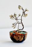 Tree of happiness Feng Shui from a wire with white stones Stock Photos