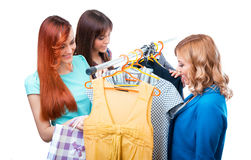 Girlfriends in a shopping Royalty Free Stock Photos