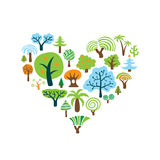Tree Heart Royalty Free Stock Images