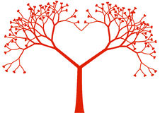 Tree heart, vector illustration