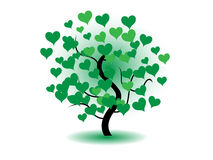 Tree with heart Royalty Free Stock Photos