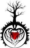 Tree with Heart Stock Photos