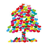 The tree of heart Royalty Free Stock Images