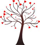Tree of heart. Computer generated tree image with the hearts on branches royalty free illustration
