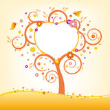 Tree and heart border Royalty Free Stock Photography
